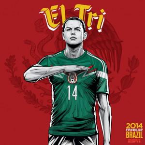Mexico - World Cup 2014 Brazil #mexico #worldcup #chicharito #eltri