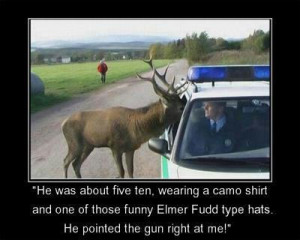 funny hunting moose policeman picture - He was about five ten, wearing ...