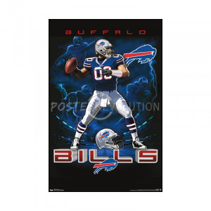 Title: Buffalo Bills Quarterback Mascot Football Poster