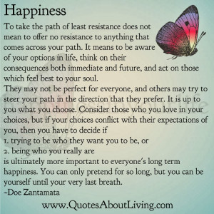 Happiness - Path of Least Resistance