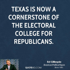 Texas is now a cornerstone of the electoral college for Republicans.