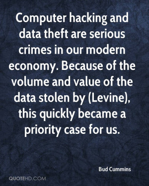 Computer hacking and data theft are serious crimes in our modern ...