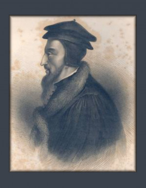 Here is a small collection of photos of John Calvin I found online.