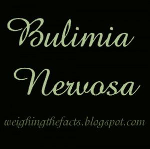 Eating Disorders: Bulimia Nervosa