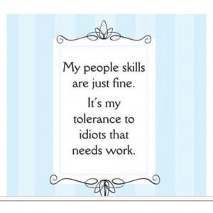 Funny people skills facebook status quote