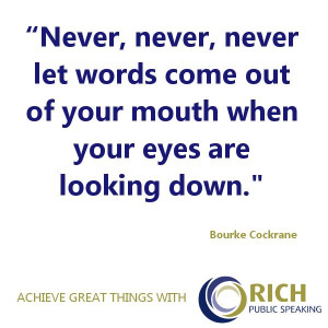 inspirational quote on the power of making eye contact when speaking ...