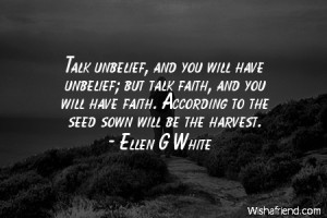 Ellen G White Quotes On Faith