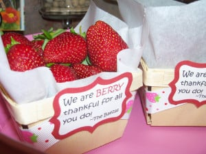 What a cute way to use our wooden berry baskets ! Who knew that ...