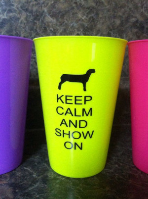 Keep calm and show on.