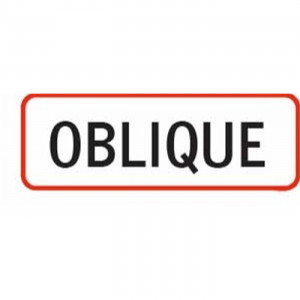 Oblique Label 1 1/2