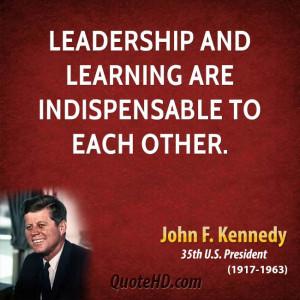 John F. Kennedy Leadership Quotes