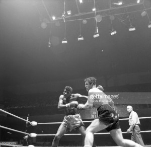 News Photo Floyd Patterson in action vs Jerry Quarry during
