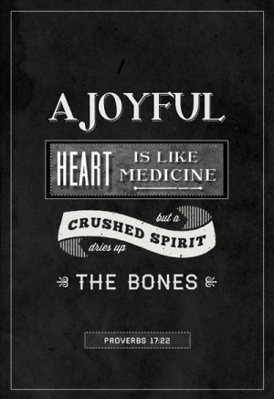 joyful heart is like medicine