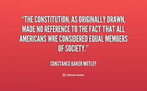 The Constitution, as originally drawn, made no reference to the fact ...