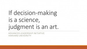 Leadership Decision-Making – Both Science and Art