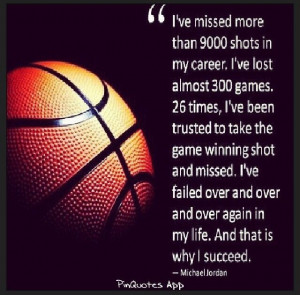 ... than Michael Jordan for some inspiration when I'm feeling defeated