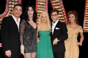 Cher, Peter Gallagher, Christina Aguilera, Steve Antin and Julianne ...