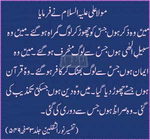 Hazrat Imam Hussain Quotes In Urdu Aqwal-e-mola ali a.s in urdu