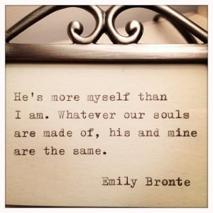 Emily Bronte Framed Love Quote Made On Typewriter