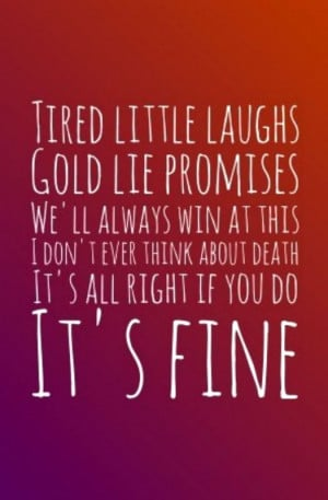 Lorde Lyrics - GLORY AND GORE: I don't ever think about death/its ...