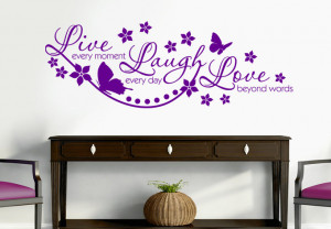 Wall Decal - Live Every Moment