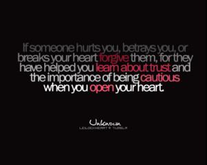 Forgiveness,Trust, Heartbreak, Relationship Quotes