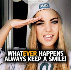 Always Keep A Smile Quote Picture
