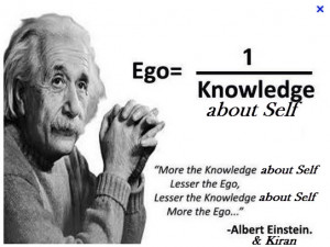 Einstein ego-and self knowledge