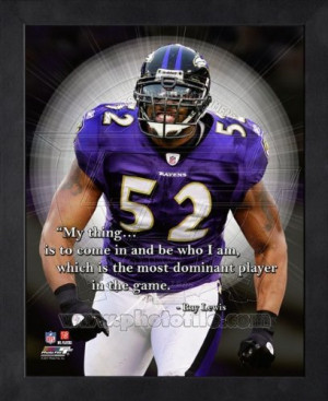 Ray Lewis Baltimore Ravens Pro Quotes Framed 8x10 Photo:
