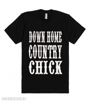 down-home-country-chick-western-style-country-sayings-girls-t-shirt ...