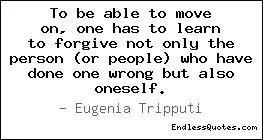 but also oneself eugenia tripputi tags moving on forgive forgiveness