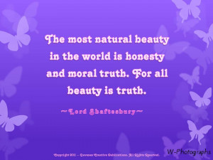 Natural Beauty In The World Is Honesty And Moral Truth For All Beauty ...