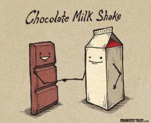 chocolate, draw, friends, funny, milk