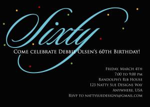 ... 60th birthday invitations wording , 60th birthday invitations for men