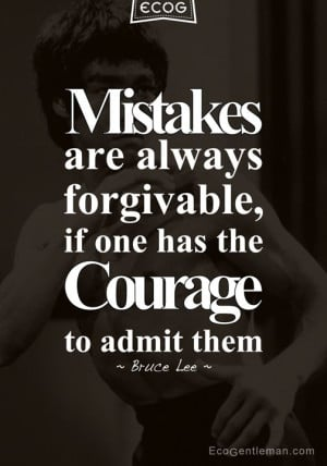 """Martial art Bruce Lee quotes prepared by Eco Gentleman – """"Mistakes ..."""