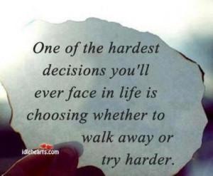 hard decisions