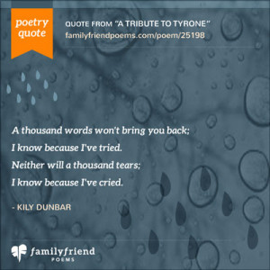 Son Death Poems and Quotes