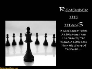 REMEMBER THE TITANS -