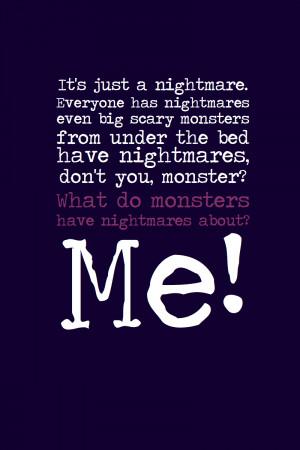 Even Monsters Have Nightmares by inkandstardust