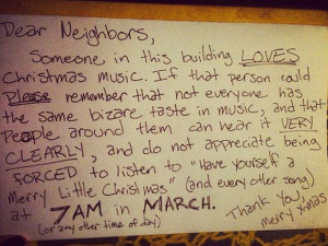 33 Not So Neighborly Notes