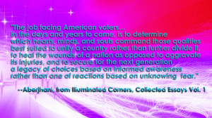 The job facing American voters… in the days and years to come is to ...