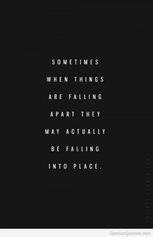 Quotes About Life Falling Apart. QuotesGram