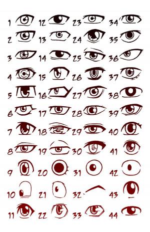 manga eyes shonen by godsartist manga anime traditional media drawings ...
