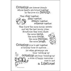 ... cards gifts more quotes for cousins scrapbook cousins quotes about