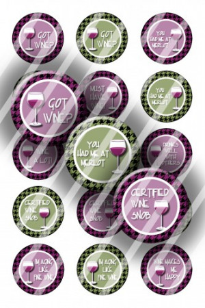 digital bottle cap images r269 wine sayings digital collage