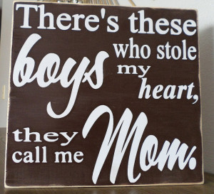 ... mom-boy stole my heart sign-new mom gift-nursery sign-gift for mom-son