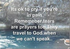 It's OK To Cry If You're In Pain!!