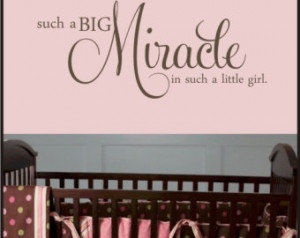 BABY MIRACLE QUOTE - Vinyl Decal - Nursery or baby room ...