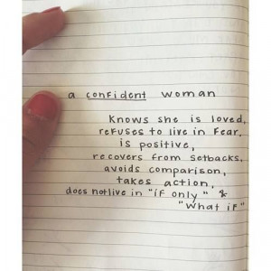 Confident Woman! Believe in yourself! Shared from VerseInspire.me ...