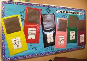 Traits of Writing--Tune into Good Writing bulletin board